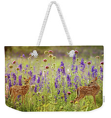 Fawns In The Meadow Weekender Tote Bag