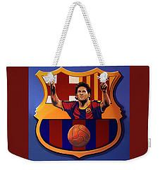Fc Barcelona Painting Weekender Tote Bag by Paul Meijering