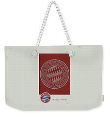 Fc Bayern Munich Logo And 3d Badge Weekender Tote Bag
