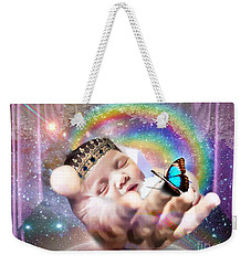 Weekender Tote Bag featuring the digital art Fearfully And Wonderfully Created by Dolores Develde