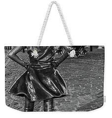 Fearless Girl And Charging Bull Nyc Weekender Tote Bag