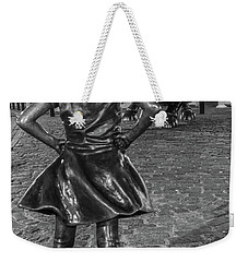 Fearless Girl And Charging Bull Nyc Weekender Tote Bag