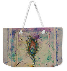 Feather And Butterfly Weekender Tote Bag