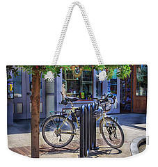 Weekender Tote Bag featuring the photograph Feather Bicycle by Craig J Satterlee