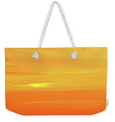 Feather Cloud In An Orange Sky  Weekender Tote Bag by Lyle Crump