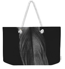 Feather In Black And White Weekender Tote Bag