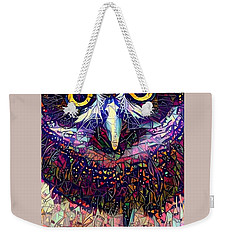 Feather Jeweled Weekender Tote Bag