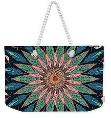 Feather Mandala IIi Weekender Tote Bag