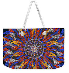 Feather Mandala Iv Weekender Tote Bag