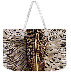 Feather Weekender Tote Bag by Nancy Kane Chapman