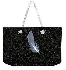 Weekender Tote Bag featuring the photograph Feather by Rhonda McDougall