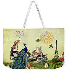 Feathered Friends In Paris, France Weekender Tote Bag by Peggy Collins