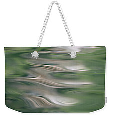 Weekender Tote Bag featuring the photograph Water Feathers by Cathie Douglas