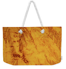 Feathers On The Wind Weekender Tote Bag by Cynthia Powell