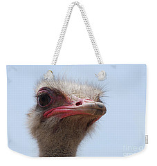 Feathers Standing Around The Head Of An Ostrich Weekender Tote Bag by DejaVu Designs