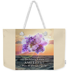February Birthstone Amethyst Weekender Tote Bag