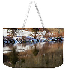 Weekender Tote Bag featuring the photograph February Reflections by Karol Livote