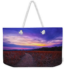 Weekender Tote Bag featuring the photograph February Sunset And Path At Retzer Nature Center by Jennifer Rondinelli Reilly - Fine Art Photography