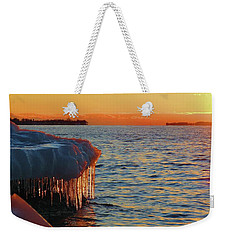 Feburary Sunset Cape Vincent Weekender Tote Bag