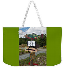 Weekender Tote Bag featuring the photograph Feed The Trout by Suzanne Gaff