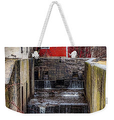 Weekender Tote Bag featuring the photograph Feeder Canal Lock 13 by Kendall McKernon