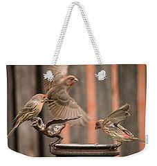 Feeding Finches Weekender Tote Bag