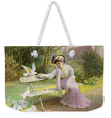 Feeding The Doves  Weekender Tote Bag by Edmond Alphonse Defonte