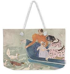Feeding The Ducks Weekender Tote Bag by Mary Stevenson Cassatt