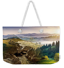 Feeding The Waterfall Montage Weekender Tote Bag