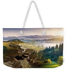 Feeding The Waterfall Montage Weekender Tote Bag
