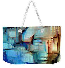 Weekender Tote Bag featuring the digital art Feeling Blue by Rafael Salazar