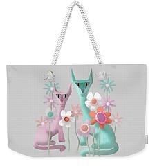 Felines In Flowers Weekender Tote Bag