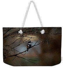 Weekender Tote Bag featuring the digital art Female Belted Kingfisher 3 by Ernie Echols
