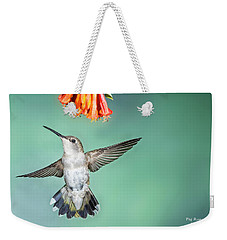 Female Black-chinned Hummingbird Weekender Tote Bag