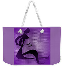 Weekender Tote Bag featuring the digital art Female Form by Iris Gelbart