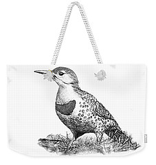 Female Northern Flicker B And W Weekender Tote Bag
