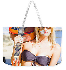 Weekender Tote Bag featuring the photograph Female Performing Artist by Jorgo Photography - Wall Art Gallery
