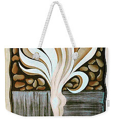 Weekender Tote Bag featuring the painting Female Petal by Fei A