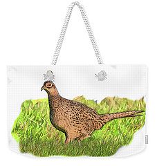 Female Pheasant In Grass Weekender Tote Bag