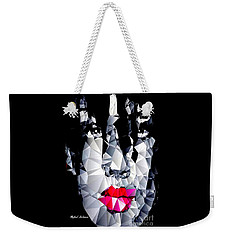 Weekender Tote Bag featuring the digital art Female Portrait In Black And White by Rafael Salazar