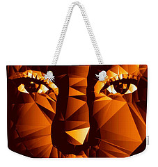 Weekender Tote Bag featuring the digital art Female Portrait In Brown by Rafael Salazar