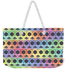 Female Sex/gender Symbols Coalesced Weekender Tote Bag by Stan  Magnan
