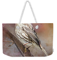 Female Sparrow On Branch Ginkelmier Inspired Weekender Tote Bag
