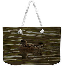 Weekender Tote Bag featuring the photograph Female Wigeon by Jeff Swan