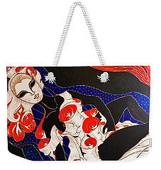 Weekender Tote Bag featuring the painting Feminine Mystique by Rae Chichilnitsky