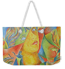 Femme Aux Trois Visages Weekender Tote Bag
