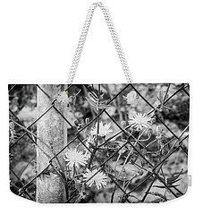 Fence And Flowers. Weekender Tote Bag