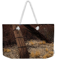 Fence Post And Storm Weekender Tote Bag