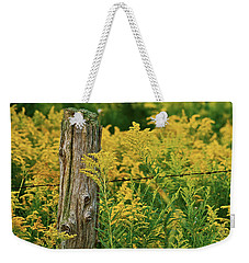 Fence Post7139 Weekender Tote Bag by Michael Peychich