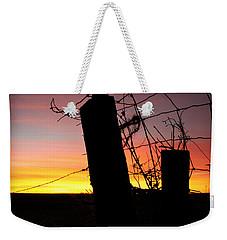 Fence Sunrise Weekender Tote Bag